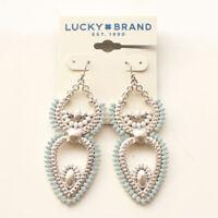 New Lucky Brand Enamel Floral Drop Earrings Gift Vintage Women Party Jewelry FS