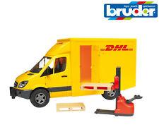 Bruder Toys 02534 Mercedes Sprinter DHL Delivery Truck Van and Pallet Truck 1:16