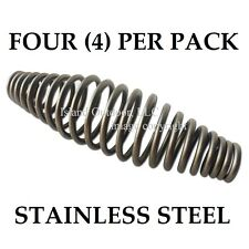 "FOUR of 5"" STAINLESS steel SPRING HANDLE BBQ smoker grill pit wood furnace stove"