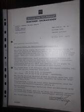 Kundenanschreiben Hela Diesel Traktoren Baumaschinen 1978 Schlepper Hermann Lanz