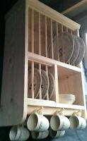 The Adlington- Hand Crafted in Pine.... Dinner Service Crockery Plate Rack