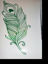 Peacock Feather Sticker Decal HOLOGRAPHIC