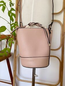Pretty TONY BIANCO soft pink bucket handbag with drawstring pouch bag