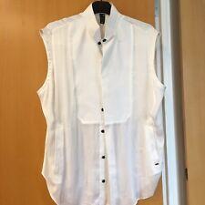 G Star RAW Ladies Buisness Shirt / Top With Dress Collar White Size Medium