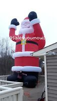 NEW CHRISTMAS HUGE COMMERCIAL INFLATABLE 35' FOOT SANTA CLAUS FREE SHIPPING!!!
