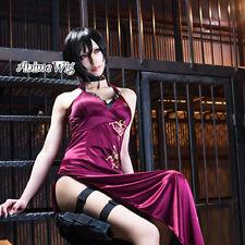 Cosplay Kostüm Perücke Anime Resident Evil 4 Ada Wong welling Fasching mit Kappe