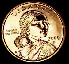 2000-D $1 Native American Dollar ltt BU Only 50 Cents for Shipping