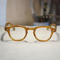 Retro vintage Johnny Depp eyeglasses womens mens blonde glasses RX optical lens