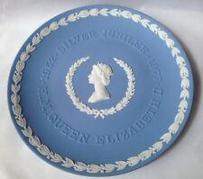 Wedgwood Queen Silver Jubilee Plate - Blue Jasperware