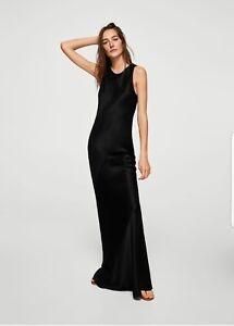 Mango Black Full lengthsatin gown