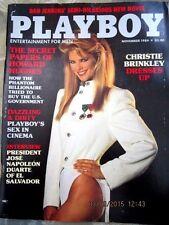 Playboy magazine November 1984 Christie Brinkley Roberta Vasquez