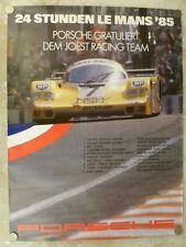 1985 Porsche 956 24 Hours Le Mans Victory Showroom Advertising Poster RARE! L@@K