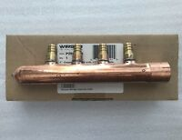 """P2801050 Wirsbo Uponor 1"""" Copper Branch Manifold (4) 1/2"""" SSC Outlets BRAND NEW"""