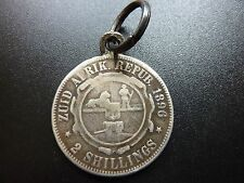 1896 South Africa 2 Shilling Pendant Coin