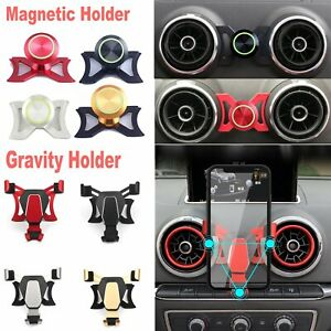 360° Rotary Cell Phone Mount Stand Holder For Audi A3 / S3 Car Air Vent Outlet