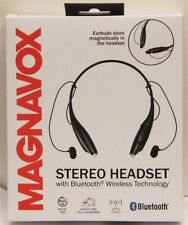 Magnavox MBH513 Bluetooth Stereo Headset Earbuds Combo with USB Charger