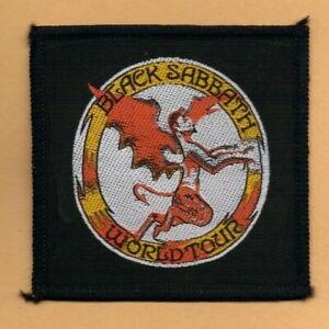 Black Sabbath flying devil World Tour vintage 1970s SEW-ON PATCH
