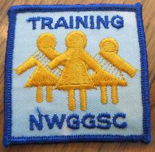 Girl Scout Gs Vintage Uniform Patch  Training Nwggsc