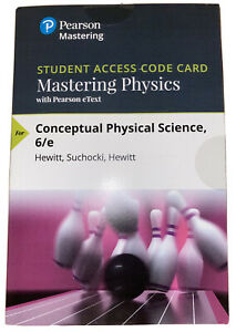 Pearsons Mastering Physics With Pearson Etext Access Code *Only* / 6th Edition