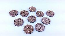 10 MOONROCK Crystal Copper 18mm ROUND Sew On Stick on Rhinestone GEMS