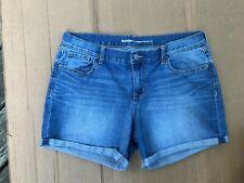 Old Navy Curvy Blue Jean Shorts Women's Size 14 Regular STRETCH