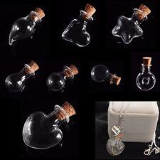 5pcs Cork Stopper Love Message Lucky Wishing Vials Glass Bottles