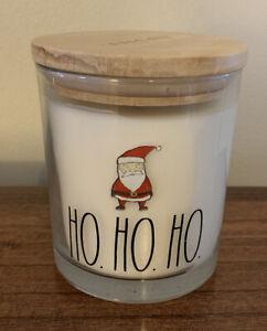Rae Dunn Ho Ho Ho Candle Winter Pine Scented Santa New