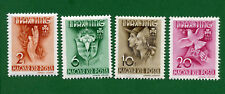 Hungary 4 stamps, SC 551 - 554,  Girl Scout Jamboree at Godollo, 1939, MPH