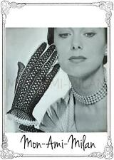 Vintage 1950s Crochet Pattern • LADIES LACY GLOVES • GRACEFUL PRETTY • GOODWOOD