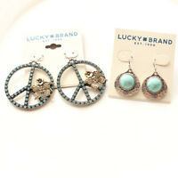 New 2Pairs Lucky Brand Drop Dangle Earrings Gift Vintage Women Party Jewelry FS