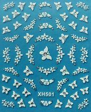 Nail Art 3D Decal Stickers Butterfly Butterflies Flowers XH501