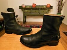 Pre-owned FRYE Women's Sexy Black Leather Veronica Back Zip Fashion Boots 7.5B