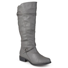 Journee Collection Womens Harley Boot Gray Size 9 Wide Calf #NLSG8-877