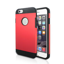 """Apple iPhone 6 OctoArmor 4.7"""" Hard Cover Protective TPU Phone Case (Red)"""