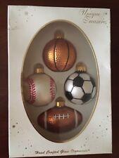 Unique Treasures Hand Crafted Sport Theme Ornaments NIP
