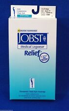 Jobst Relief 20-30 mmHg Double Both Leg Chap Open Toe Firm Compression Small /OT
