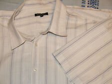 Lovely shirt SIZE XXXL. BY GEORGE white blue striped IN GOOD condition