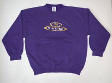 Vintage 90's Minnesota Vikings Purple Sweatshirt Size Mens 2XL NFL Football