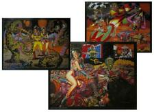 TODD SCHORR ALIENS, ROBOTS, HOT RODDERS 3 LOWBROW SPACE ART PRINTS SIGNED