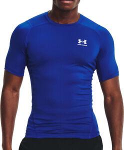 Under Armour HeatGear Armour Short Sleeve Mens Compression Top - Blue