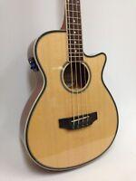 Haze FB-711BCEQ/N 3/4 Size Acoustic Bass Guitar,4-String,EQ,Natural+Free Gig Bag