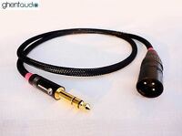 C03 (0.3m 1ft) --- 6.35mm TRS(male) to Balanced XLR(male) OFC HIFI Audio Cable