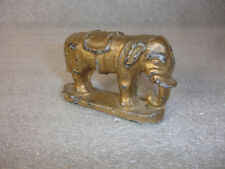 Old Vtg Antique Collectible Lead Circus Elephant Figure Figurine Gold Tone