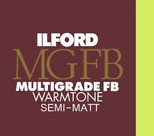 Ilford Warmtone Fibre Base 9½ x12 10 Semi-Matt B&W