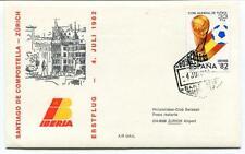 FFC 1982 Iberia First Flight Santiago De Compostella Zurich Copa Mundial Futbol
