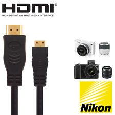 Nikon d3300, D610, D7100, d5300 appareil photo numérique Mini HDMI Moniteur TV CÂBLE 2,5 M
