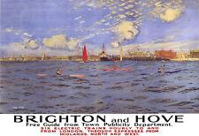 Art Ad Brighton & Hove See by Train  Train Rail Travel  Poster Print