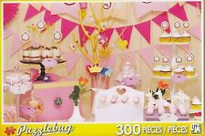 NEW Puzzlebug 300 Piece Jigsaw Puzzle ~ Sweet Pink Dessert Table FREE SHIPPING