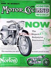Oct 29 1959 NORTON 'Dominator 88'  Motor Cycle ADVERT - Magazine Cover Print