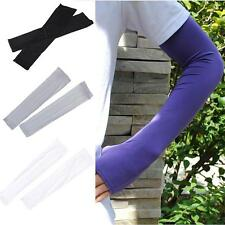 2pcs Arm Cooling Sleeves Gloves for UV Sun Protection Cover Driving Fishing W✿